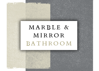 Spinks Interiors | Marble & Mirror Bathroom Inspiration