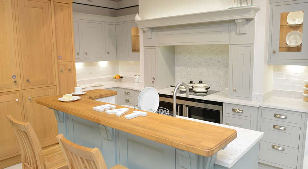 Sheraton Lissa Oak Painted Light Grey Steel Blue   See It At Our Doncaster  Showroom. Spinks Interiors | Kitchens Part 93